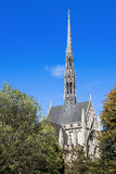 Heinz Chapel Through Trees. Gothic Architecture of Pittsburghs Historic and Grandiose Heinz Chapel Facade royalty free stock photography