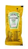 Heinz mustard bag. LEIDSCHENDAM - NETHERLANDS - MEDIA OCTOBER 2015: Heinz mustard bag royalty free stock photos