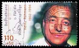 Heinz RÃ ¼ hmann, ευημερία: Διεθνείς δράστες κινηματογράφων serie, circa 2000 στοκ εικόνες