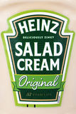 Heinz Salad Cream. LONDON, UK - JULY 7TH 2017: A close-up of the label on a bottle of Heinz Salad Cream, on 7th July 2017 royalty free stock images