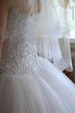 Heirat, Kleid, Korsett, Braut Stockbild