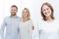 Heirat mit Problemen und Therapeuten Stockbilder