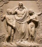 Heirat von Adam und von Eve Stockbild