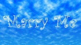 ` Heiraten mich ` Wolkenschreiben lizenzfreie abbildung
