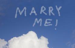 Heiraten Sie mich Stockbild