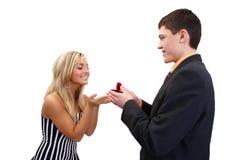 Heiraten Sie mich? Stockbild