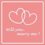 Heiraten Sie mich Lizenzfreies Stockbild