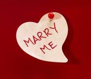 Heiraten Sie mich Inner-Notiz Lizenzfreies Stockfoto