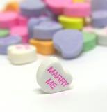 Heiraten Sie mich Süßigkeit-Inneres Stockbild