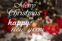 Heiraten Sie Weihnachts- und guten Rutsch ins Neue Jahr-Wünsche Lizenzfreies Stockfoto
