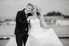 Heiratende blonde Paare Lizenzfreies Stockbild