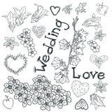 Heiratende Blumenzeichnung, Vektor lizenzfreie abbildung