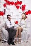 Heiratende schöne Paare Lizenzfreies Stockfoto