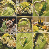 Heiratender Blumendekorationssatz Stockfoto