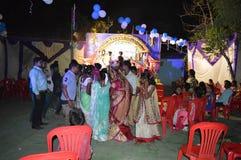 Heiratpartei in Indien Stockbild