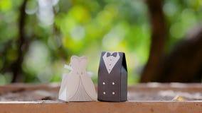Heiratsandenken der Braut und des Bräutigams stock video footage