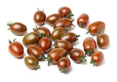 Heirloom cherry tomatoes. On white background Stock Photography