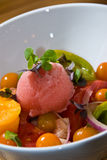 Heirloom tomato salad Royalty Free Stock Photography