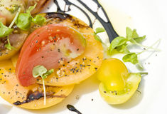 Heirloom Tomato Salad Stock Images