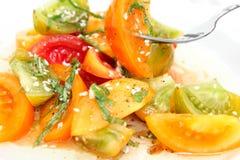 Heirloom Tomato Salad Stock Image