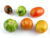 Heirloom tomatoes. Variety of heirloom tomatoes Stock Photography