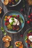 Heirloom Tomatoes Salad with Burrata Cheese royalty free stock photo