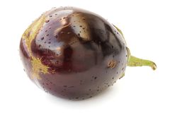 Heirloom violet eggplant isolated Royalty Free Stock Images