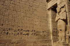 Heiroglyphs of Medinat Habu. Luxor, Egypt. Heiroglyphs and relief of Medinat Habu. Luxor, Egypt stock photography
