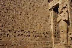 Heiroglyphs van Medinat Habu. Luxor, Egypte Stock Fotografie
