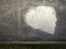 Heise alte Wand des grauen Gipses mit Weiß malte Teil 1 Lizenzfreie Stockfotografie
