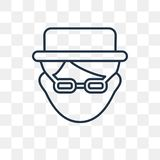 Heisenberg vector icon isolated on transparent background, linear Heisenberg transparency concept can be used web and mobile vector illustration