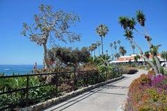 Heisler Park walkway, Laguna Beach, California. Stock Photography