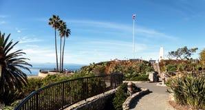Heisler Park walkway. Overlooking the coastline cliffs of Laguna Beach, California in winter Royalty Free Stock Photo