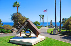 Heisler Parks Monument Point, Laguna Beach, California. This image shows Heisler Parks Monument Point (in Laguna Beach) along spectacular landscaped walkways stock photos