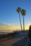 Heisler Parks Monument Point, Laguna Beach, California. This image shows Heisler Parks Monument Point (in Laguna Beach) along spectacular landscaped walkways Royalty Free Stock Images