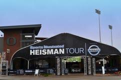 Heisman Ausflug gefördert von Nissan Stockfotografie