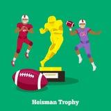 Heisman Trophy Concept Flat Design Stock Images