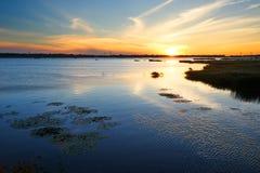 The Heiyu lake sunset Stock Photo