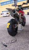 Heizdecke für Motorräder Stockfotos