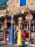 Heizkörper entspringt Souvenirladen bei Carsland, Erlebnispark Disneys Kalifornien Lizenzfreie Stockfotos