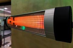 Heizung elektrisch auf dem kalten Bodenwintergerät lizenzfreie stockbilder