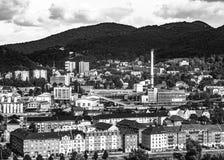 Heizungsanlage in der Stadt Lizenzfreies Stockfoto