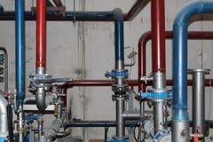 Heizungsrohre und Teile Heizungspunkt lizenzfreie stockbilder