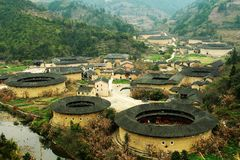 Hekeng Fujian Tulou Royalty Free Stock Photography