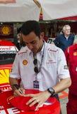 Hekio Castro Neves на гонке автомобиля штока Стоковые Изображения