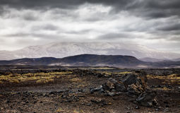 Hekla volcano Royalty Free Stock Images