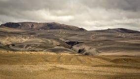 Hekla volcano. The landscape near the Hekla volcano in Iceland stock photo