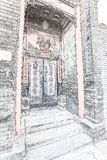 Hekpaalcouplet in Peking royalty-vrije stock foto's
