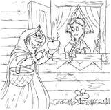 Heks en prinses Stock Fotografie