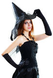 Heks Halloween Royalty-vrije Stock Afbeelding